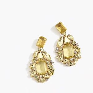 NWT J.Crew • Crystal Cluster Drop Stone Earrings